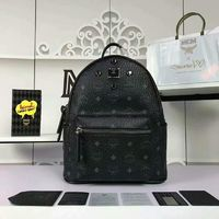 MCM Small Stark Four Odeon Studs Backpack In Black
