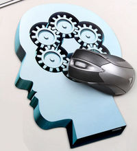 Thinker Pattern Mouse Pad - feelgift.com