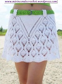Crochet skirt with diagram.