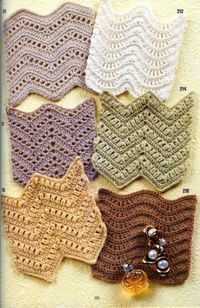 Zig-zag Patterns. Diagrams only. �˜€CQ #crochet