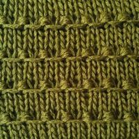 """#Knitting #Stitch - Tiny Bobbles Stitch - So simple and so pretty! Pattern is 4 rows of stockinette and only 2 rows of a very easy increase/decrease stitch. I'll be trying this soon and coming up with some variations!"" #KnittingGuru http://..."