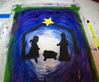 that artist woman: How to Make a Nativity Silhouette - Art Project