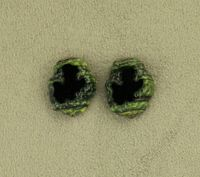 14 x 18 mm Oval Black and Green Agate Slice Glass Magnetic Clip Non Pierced or Pierced Earrings $30.00 Designed by LauraWilson.com