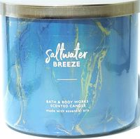 Bath & Body Works Saltwater Breeze 3 Wick Candle in Turquoise Holographic Jar $28.50