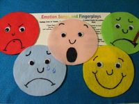 "Felt Board Flannel Story ""Feeling Faces"" Educational Circle Time Emotions 
