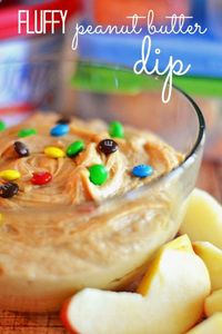 Whipped peanut butter, brown sugar and cream cheese are the perfect combination for this fluffy dip! #abetterlunch #PMedia #ad