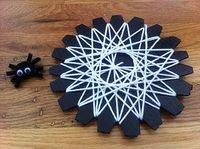the spider web activity for busy bag swap - the website has LOTS of great ideas!