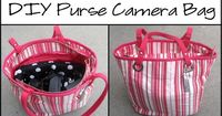 Nap Time Crafters: Purse Camera Bag Tutorial - tutorial for a great covered foam insert for any bag.
