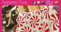 How To Crochet Peppermint Throw *** When I saw this pattern on Red Heart I fell in love with it. I am so happy Mikey from The Crochet Crowd posted a video tutorial for it. <3 <3 <3