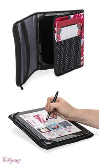 For the travelling techie - makes a perfect portable office and iPad cover in one - from Thirty-One Gifts Canada.