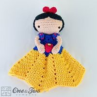 Snow white security blanket crochet pattern 01 small2