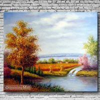 Oil Painting Hand Painted On Canvas Harvest Time