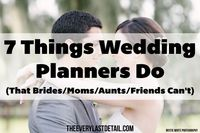 It's no secret that I think that every bride deserves to have a wedding planner- because every bride deserves to have a wonderful, stress free wedding planning