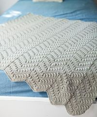 "Knit Picks: Willow Baby Afghan - Free crochet pattern to download by Kalurah. 36"" square but can be made smaller/larger."