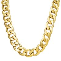 """Men's 9ct Gold FILLED XXL 20mm 30"""" Curb Bling Heavy Solid Chain Necklace £29.95"""