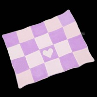 Fifi & Romeo Cashmere Checkered Blanket - Lavender Combination