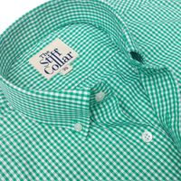 Bottle Green Gingham Regular Fit Button Down Shirt �'�1899.00