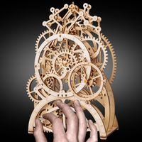 Assembly Puzzle Pendulum Clock Model Kit Wooden Mechanical Gears Educational Toy $87.80
