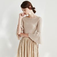 Split Frilled Sleeves Gold T-shirt - Bonny YZOZO Boutique Store