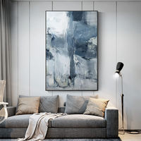 Modern abstract art acrylic paintings on canvas original gray painting extra large wall art framed painting Wall pictures cuadros abstractos $116.47