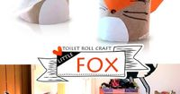 A toilet paper roll fox