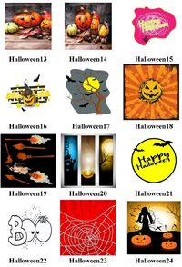 Halloween #13-24 Mural Art Ceramic Tile, Halloween Home Decor, Decoration Art Accent Gifts, Decorative, Coasters. Made in USA. $13.99