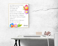 Our Father Printable Floral Catholic Prayers Wall Art $5.00