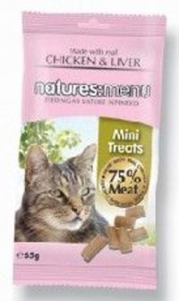 Anglian Meat Products Natures Menu Cat Treats Chicken and Liver 65g Natures Menu Cat Treats Chicken amp; Liver 65g 65g http://www.comparestoreprices.co.uk/pet-products/anglian-meat-products-natures-menu-cat-treats-chicken-and-liver-65g.asp