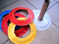 Paper Plate Ring Toss. So easy & yet so much fun! This whole blog is super great!