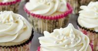 White Chocolate Cupcakes--a lighter take on the typical dessert.