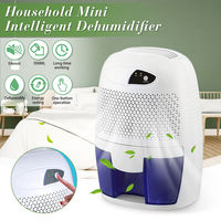 AUGIENB 500ML Portable Mini Dehumidifier Electric Quiet Air Dryer Drying Moisture for Home Office Bathroom