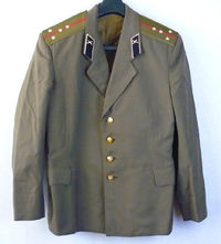 Captain Daily Russian Soviet Army Military Uniform Military Jacket Tunic Blazer $40.00
