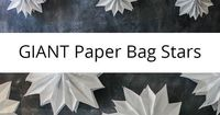 Perfect for party decorations any time of the year - giant paper bag stars. Mix and match colors to make a stunning feature wall for your next party, or hang your paper stars from the ceiling. Easy step by step instructions and a video tutorial will help ...