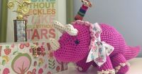 This crochet triceratops was fun to make