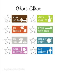 Kids Chore Chart Has Been a Blessing! Here is a FREE One For You! |