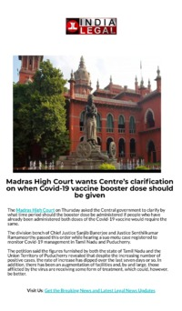 Madras High Court wants Centres clarification on when Covid-19 vaccine booster dose should be given.png
