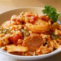 Oven Baked Jambalaya. This is my favorite recipe for jambalaya. If your making it for a small amount of people I would cut the ingredients in half because this makes a lot! Super yummy!!!