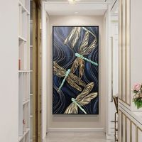 Modern art Abstract black paintings on canvas original Gold art Craft acrylic painting wall pictures cuadros abstractos hand painted $149.00