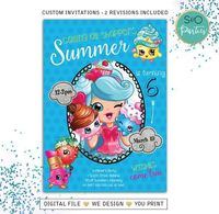 Shopkins Invitations // Shopkins Birthday // Shopkins Invite // Shopkins Party // Shopkins Birthday Party $12.00