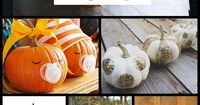 """No knife? No problem! Here are """"17 Alternatives to Carving a Pumpkin."""" And they are so cool, too! #Halloween #pumpkins #falldecor"""