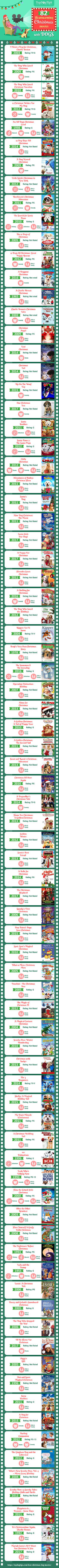 Whether you're looking for an animated family film or a heartwarming story of the magic of the season, there's something for everyone in the family in this infographic list of movies with dogs.