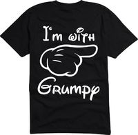 New I'm With Grumpy MIckey MOuse Disney World Vintage MEN'S T-Shirt S- 6XL #Handmade #GraphicTee