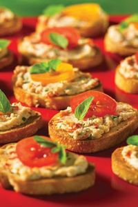 Hot appetizers are especially welcome at a cold-weather party. This one can be made mostly ahead and then popped in the oven for a few minutes at the host's hom