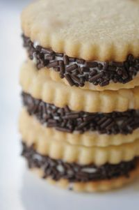 Peanut butter ice cream sandwiches via Cupcakes and Cashmere. This looks RIDICULOUSLY good right now.