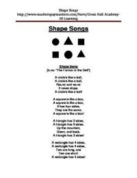 10 new, enriched and creative songs and rhymes about shapes. Designed for a preschool, kindergarten, daycare and home school.****************************************************************************Please check out my other products, all new, enriched ...