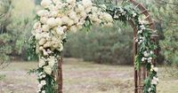 stunning wedding arch