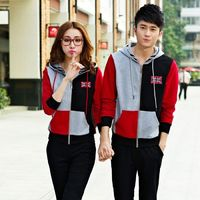 Girlfriend Boyfriend Matching 2 Piece Hoodie Suit for Two