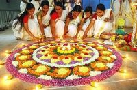 Onam rangoli designs are made using flowers. In Tamil Nadu, rangoli floor designs are called pookolam and flowers like marigold and chrysanthemums are used to create them. During the festival of Onam, the design is changed every day and with each passing ...