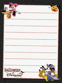 Hallowe'en at Disneyland Paris - Project Life Journal Card - Scrapbooking. ~~~~~~~~~ Size: 3x4""