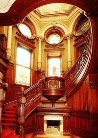 Stair Hall of Gresham House in Galveston aka The Bishop's Palace